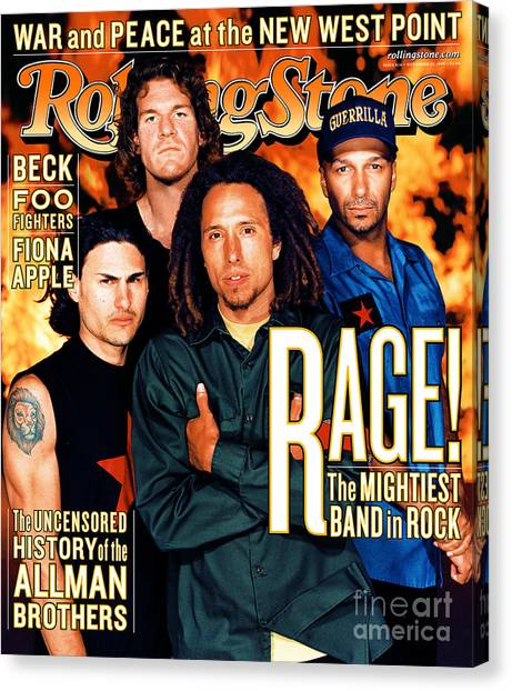 Tool Canvas Print - Rolling Stone Cover - Volume #826 - 11/25/1999 - Rage Against The Machine by Martin Schoeller