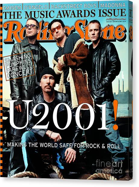 U2 Canvas Print - Rolling Stone Cover - Volume #860 - 1/18/2001 - U2 by Mark Seliger