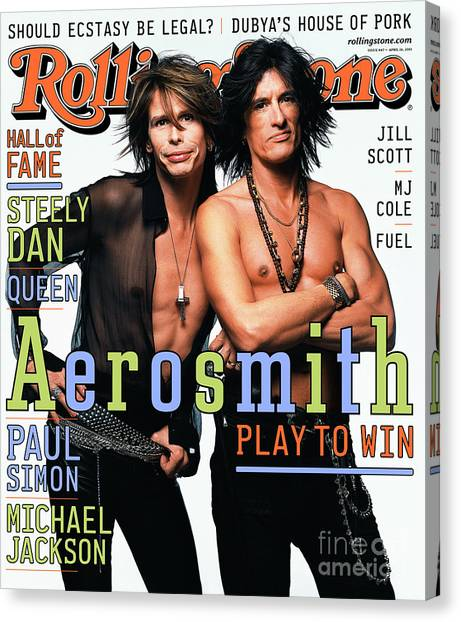 Aerosmith Canvas Print - Rolling Stone Cover - Volume #867 - 4/26/2001 - Steven Tyler And Joe Perry by Mark Seliger