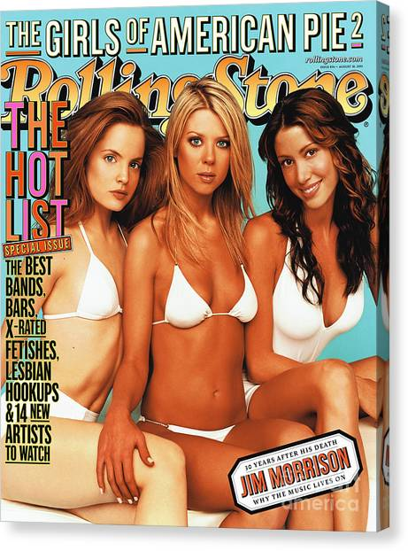 Cast Canvas Print - Rolling Stone Cover - Volume #876 - 8/30/2001 - Cast Of American Pie 2 by Jim Wright