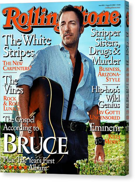 Bruce Springsteen Canvas Print - Rolling Stone Cover - Volume #903 - 8/20/2002 - Bruce Springsteen by Martin Schoeller