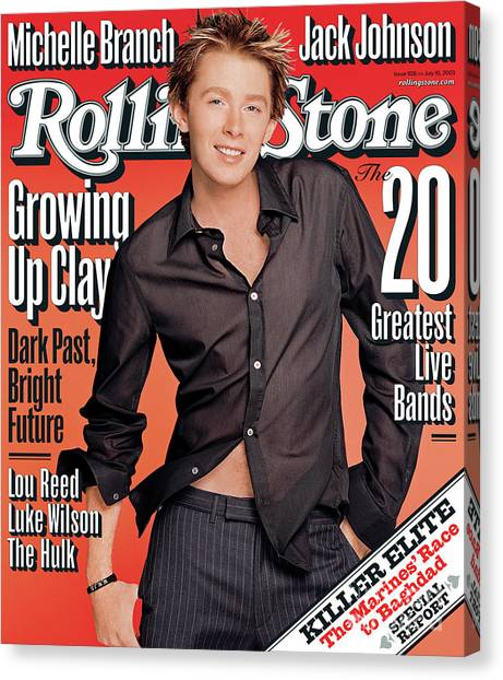 Clay Canvas Print - Rolling Stone Cover - Volume #926 - 7/10/2003 - Clay Aiken by Matthew Rolston