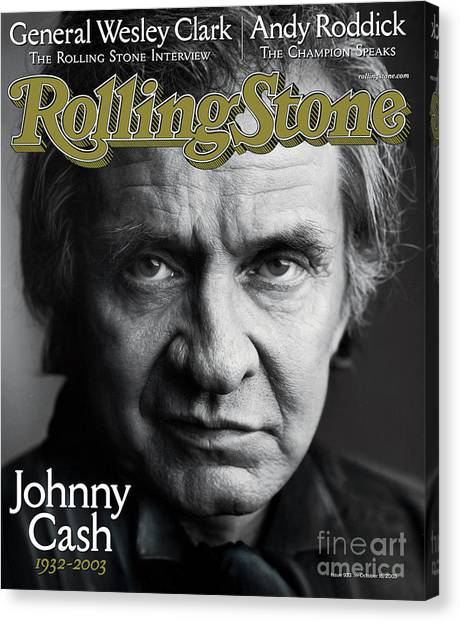 Johnny Cash Canvas Print - Rolling Stone Cover - Volume #933 - 10/16/2003 - Johnny Cash by Mark Seliger