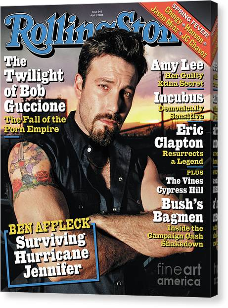 Ben Affleck Canvas Print - Rolling Stone Cover - Volume #945 - 4/1/2004 - Ben Affleck by David LaChapelle