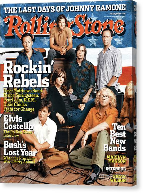 Rolling Stone Cover - Volume #959 - 10/14/2004 - Voices For Change Canvas Print by Norman Jean Roy