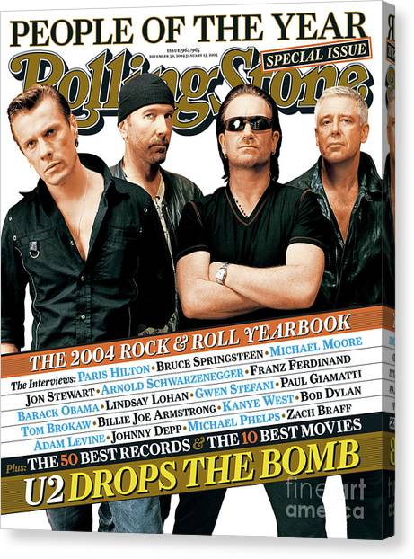 U2 Canvas Print - Rolling Stone Cover - Volume #965 - 12/30/2004 - U2 by Ruven Afanador