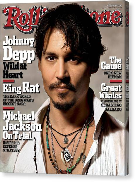 Johnny Depp Canvas Print - Rolling Stone Cover - Volume #967 - 2/10/2005 - Johnny Depp by Albert Watson