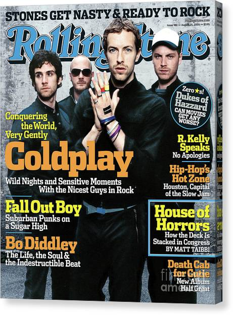 Coldplay Canvas Print - Rolling Stone Cover - Volume #981 - 8/25/2005 - Coldplay by Anton Corbijn