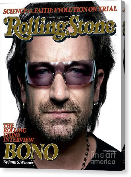 Bono Canvas Print - Rolling Stone Cover - Volume #986 - 11/3/2005 - Bono by Platon