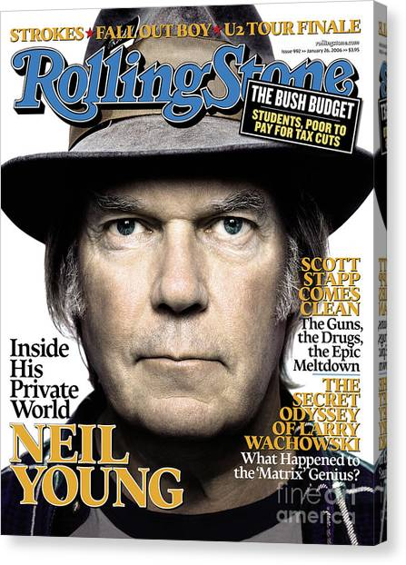 Neil Young Canvas Print - Rolling Stone Cover - Volume #992 - 1/26/2006 - Neil Young by Platon