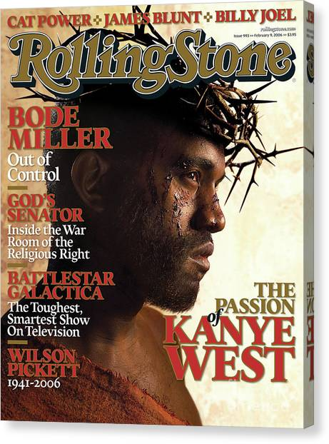 West Canvas Print - Rolling Stone Cover - Volume #993 - 2/9/2006 - Kanye West by David LaChapelle