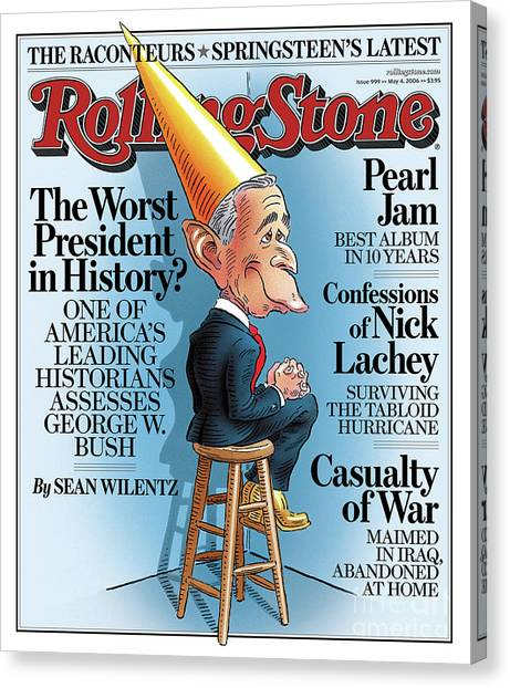 Bush Canvas Print - Rolling Stone Cover - Volume #999 - 5/4/2006 - George W. Bush by Robert Grossman