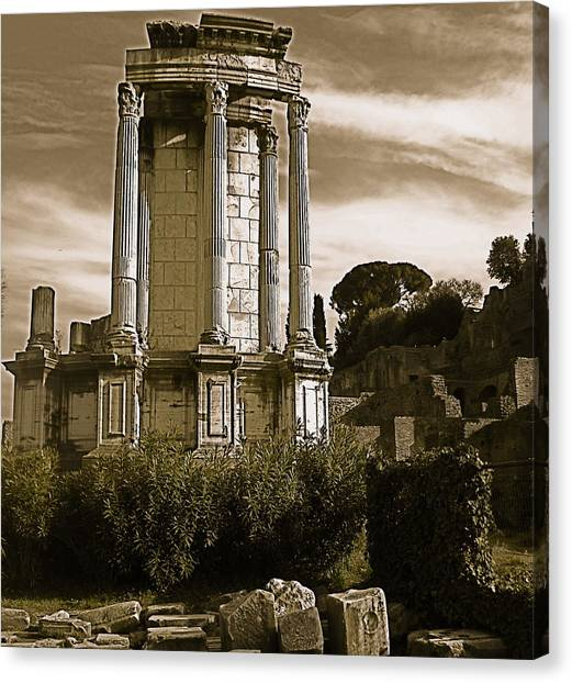 Roman Column Canvas Print