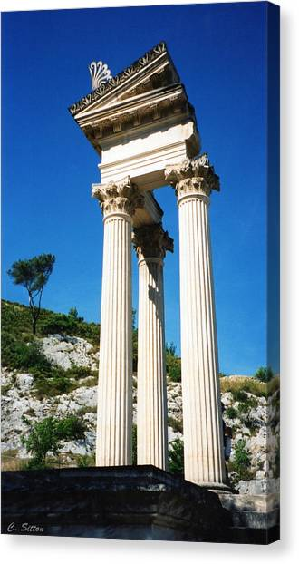 Roman Columns Of Glanum Canvas Print
