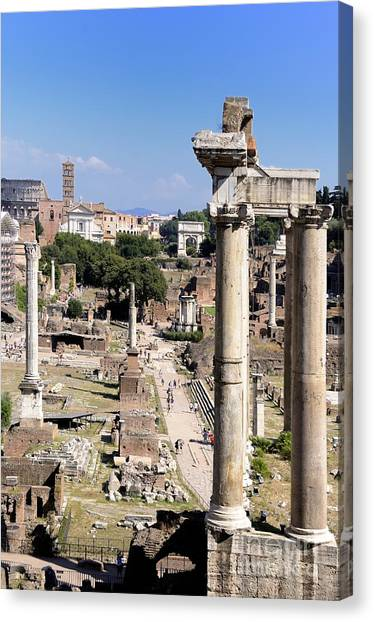 The Forum Canvas Print - Roman Forum. Rome by Bernard Jaubert