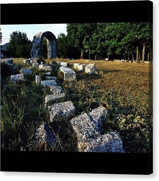 Roman Art Canvas Print - #roman #ruins #igers #ipics #igview by Luca Sabatini