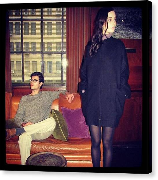 Libraries Canvas Print - Romantic Yearning @hydenyoo #fall2012 by Mariana L