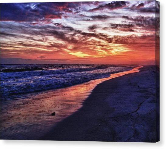 Romar Beach Sunset Canvas Print