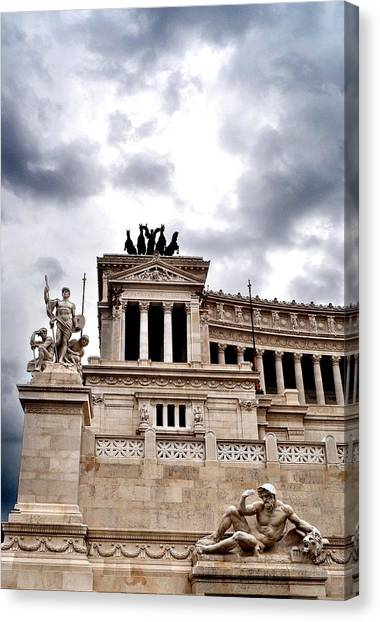 Rome Capitol Building Canvas Print by Heather Marshall