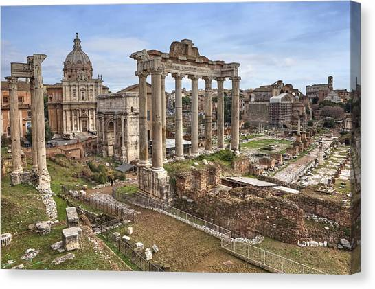 The Colosseum Canvas Print - Rome Forum Romanum by Joana Kruse