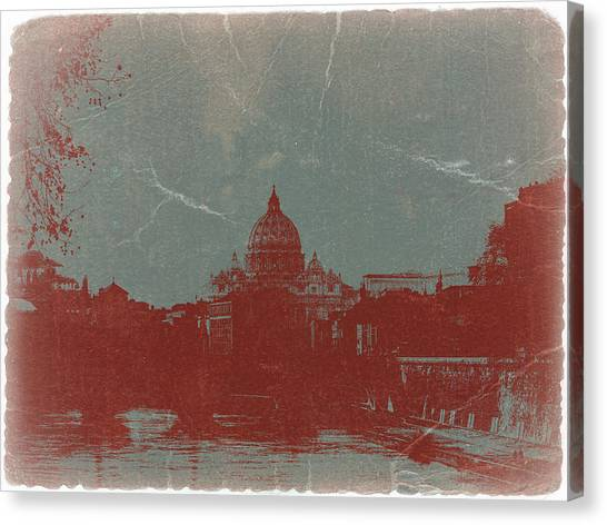 Cathedrals Canvas Print - Rome by Naxart Studio
