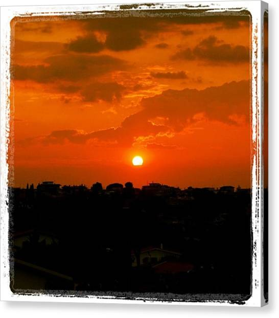 Red Canvas Print - Rome's Sunset by Luisa Azzolini