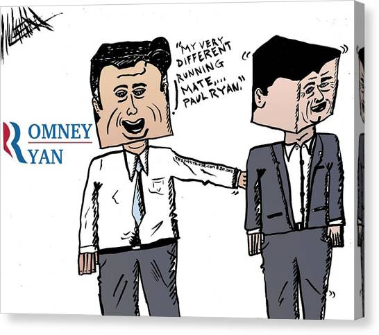 Paul Ryan Canvas Print - Romney Ryan Caricature by Yasha Harari