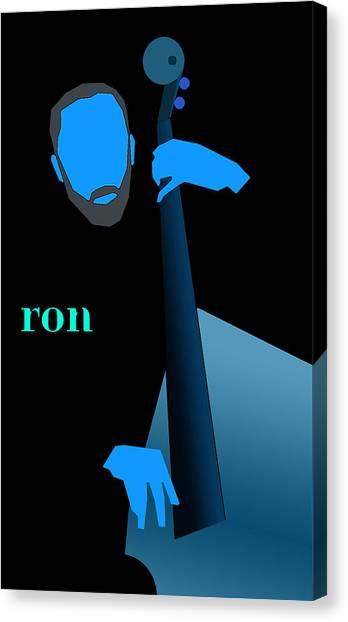 Ron Carter Blue Canvas Print by Victor Bailey