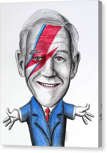 Libertarian Canvas Print - Ron Paul Is Ziggy Stardust by Eric McGreevy