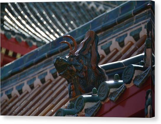 Rooftop Dragon Canvas Print