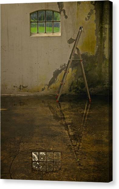 Dada Art Canvas Print - Room For Reflection by Odd Jeppesen