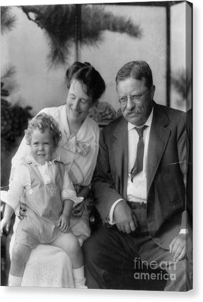 First Lady Canvas Print - Roosevelt Family, 1915 by Granger