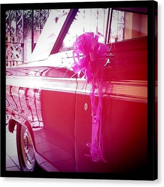 Ford Canvas Print - Rosaaaaa by Manu Bonilla