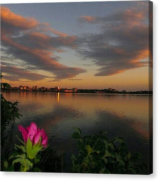 Maine Canvas Print - Rose Admiring Sky - #clouds #sunset by Chris T Darling