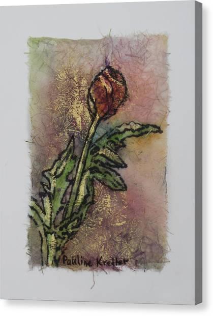 Rose Bud Canvas Print