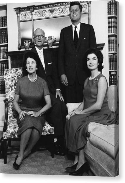 Rose Kennedy, Joseph P. Kennedy, John Canvas Print by Everett