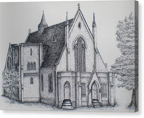 Rosemount Parish Church Canvas Print