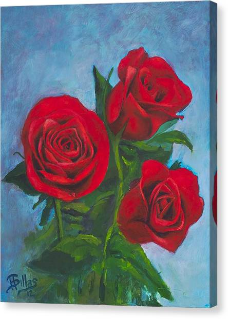 Roses Canvas Print by Herman Sillas