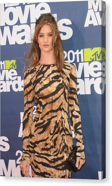 The Amphitheatre Canvas Print - Rosie Huntington Whiteley Wearing by Everett