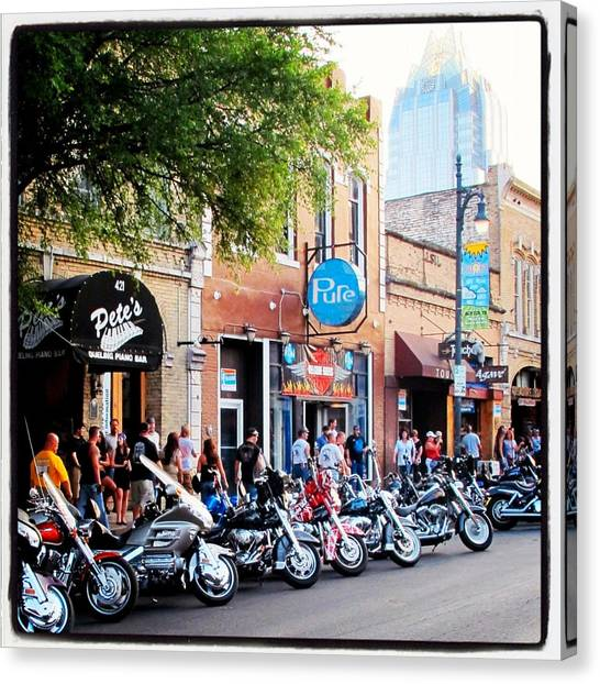 Biker Canvas Print - Rot Rally 5 by Pauline Walsh Jacobson