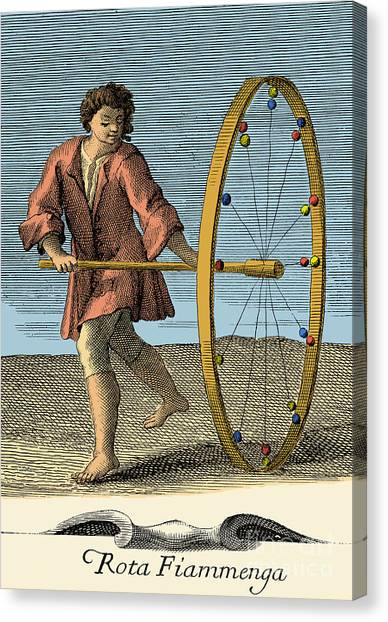 Rota Canvas Print - Rota Fiammenga, 18th Century Toy by Photo Researchers