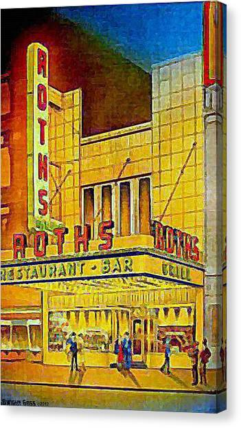 Roth's Restaurant In New York City In 1939 Canvas Print by Dwight Goss