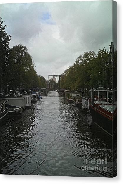 Rotterdam Canal Canvas Print by Jennifer Sabir