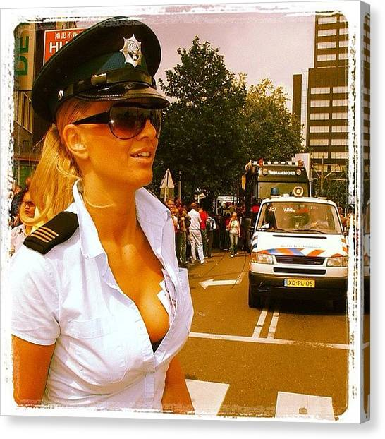 Dutch Canvas Print - #rotterdam #dutch #police #politie by 🅿💀r1⃣©⚠◀ Qu1⃣5⃣p3⃣l