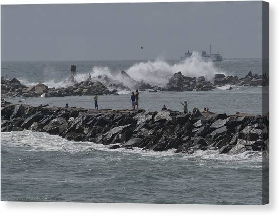 Rough Seas To Block Island Canvas Print
