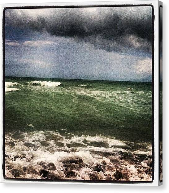 Storms Canvas Print - Rough Waters by Lea Ward