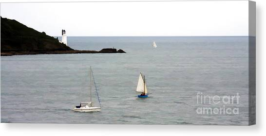 Round The Headland Canvas Print by Ron Telford