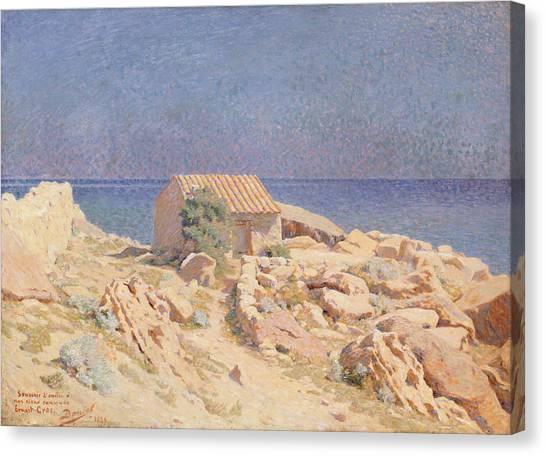 Arid Canvas Print - Roussillon Landscape by Georges Daniel de Monfreid