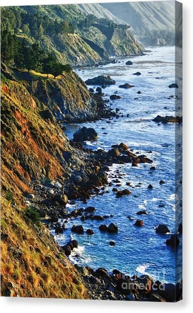 Route 1 Coastline Canvas Print