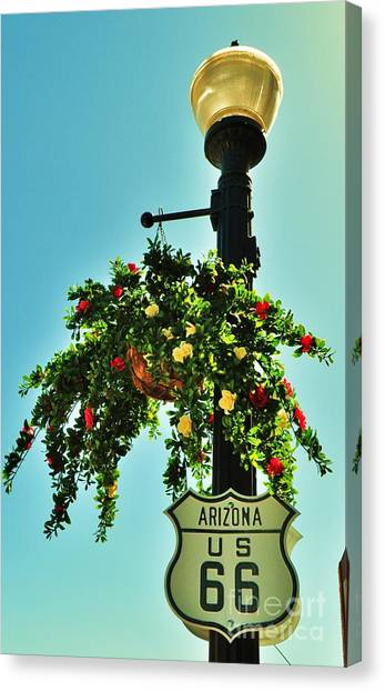 Route 66 Williams Arizona Canvas Print by George Sylvia